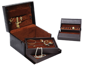 Ladies' Jewel Cases with Stackable Trays