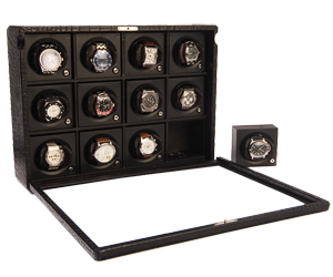 Case with Rotors for 12  Automatic Watches