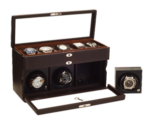 Rotor Case for 3 Automatic Watches and 5 Watches on Cushions