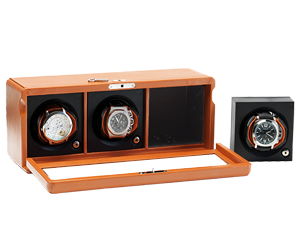 Case with Rotors for 3 Automatic Watches