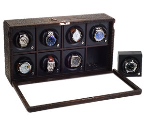 Case with Rotors for 8 Automatic Watches